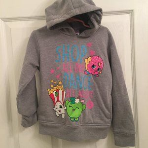 Shopkins Gray Hoodie Shop All Day Dance All Night